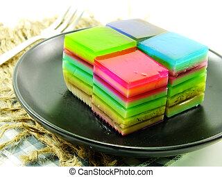 multi layered fruit jelly