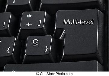Multi-level Marketing keaboard - Black keyboard with the...