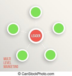 Multi level marketing Leader diagramm  vector illustration