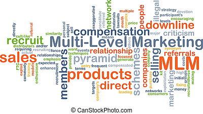 Multi-level marketing MLM background concept - Background...