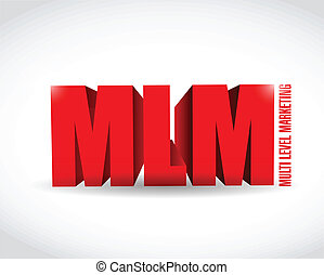 multi level marketing sign illustration design over a white...