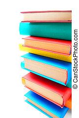 multi, libros, -, coloreado
