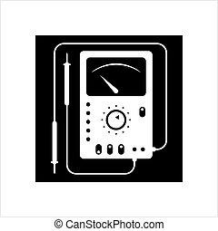 Multi Meter Icon, Multimeter Icon Vector Art Illustration