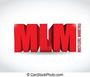 multi, nivel, mercadotecnia, ilustración, señal, diseño