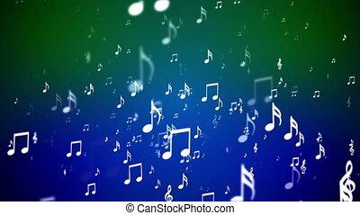 multi, notatki, kolor, transmisja, muzyka, loopable, powstanie, wypadki, hd