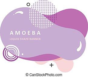 multi, płyn, barwny, ameba, kolor, concept., nowoczesny,...