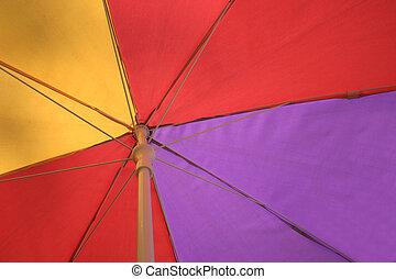 multi, paraguas, coloreado