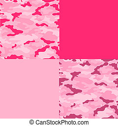 Multi Pink Camo Paper - paper or background