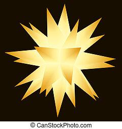 (multi-pointed), étoile, moravian, noël