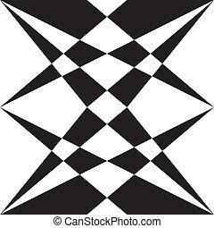 multi, prospettiva, astratto, elemento, forme, sfondo nero, trasparente