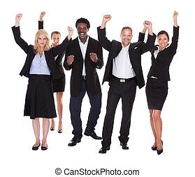 multi-racial , ευτυχισμένος , σύνολο , αρμοδιότητα ακόλουθοι...