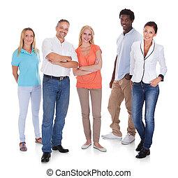 multi-racial, グループ, 人々