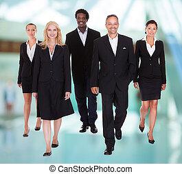 multi-razziale, gruppo, persone affari