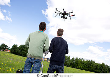 multi, rotor, fotografi, uav