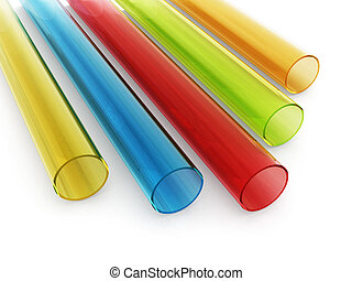 multi, schläuche, gefärbt, acryl