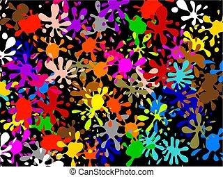 Multi Splatter Wallpaper - Colourful abstract graffiti...