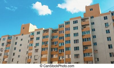 multi-storey house with air conditioning lifestyle against ...