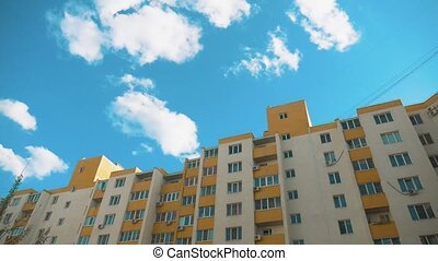 multi-storey house with lifestyle air conditioning against ...