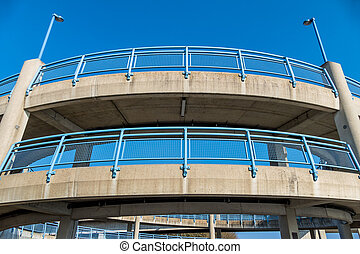multi-storey pedestrian bridge