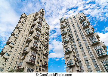 Multi-storey residential building in Russia