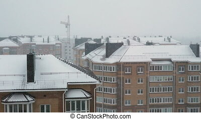 Multi-storey residential house.There is a Blizzard -...