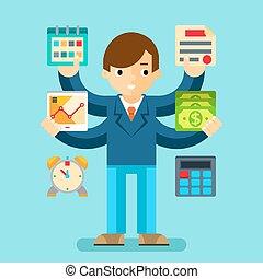 multi tasking, director, oficina