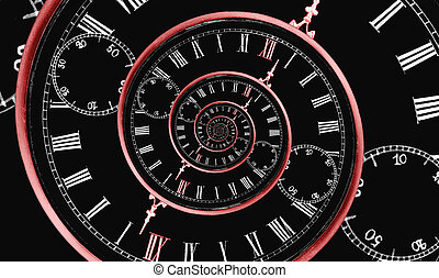 multi, tijd, spiraal