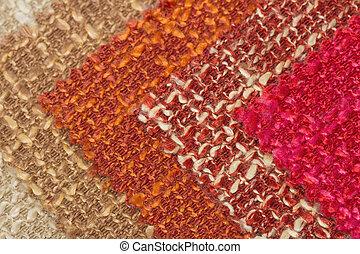 multi, tono, tela, textura, muestra, fondo., lana