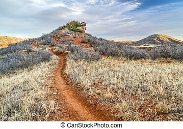 multi use trail in Red Mountain Open Space - multi use trail...