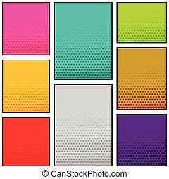 multi, vertical, couleur, style, livre, conception, comique, bannière