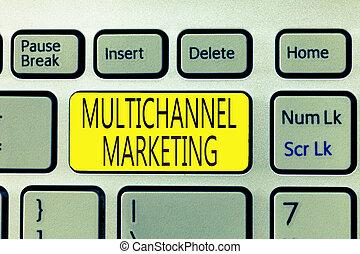 multichannel, comprar, marketing., texto, actuación, lo que, señal, manera, foto, conceptual, consumidor, easier