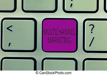 multichannel, concepto, marketing., texto, lo que, escritura, significado, comprar, manera, escritura, consumidor, easier