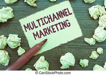 multichannel, concepto, marketing., texto, lo que, significado, comprar, manera, escritura, consumidor, easier