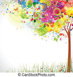 multicolor, árbol