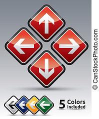 multicolor , θέτω , βέλος , κίνδυνοs