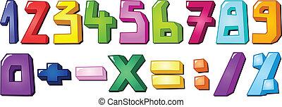 multicolor, 數字