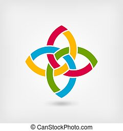 multicolor abstract intertwining symbol