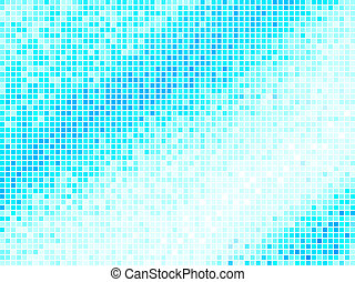 Multicolor Abstract Light Blue Tile Background. Square Pixel Mosaic Vector