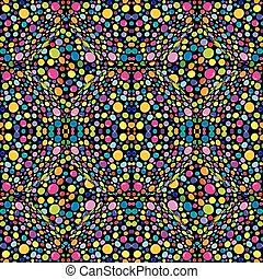 Multicolor, abstract pattern with circles