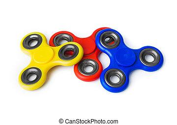 multicolor, agujas giratorias