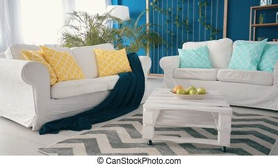 Multicolor and multifunctional living room video