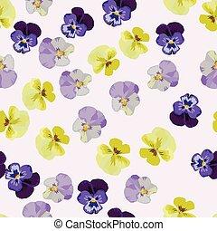 Multicolor anemone flowers seamless pattern