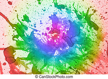 Multicolor background - abstract multicolor water color with...