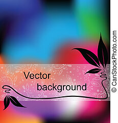 Multicolor background with space for your text