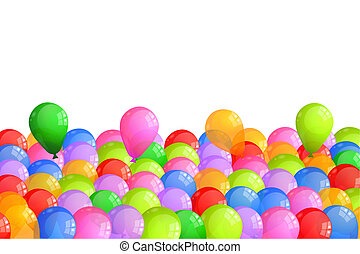 Multicolor Baloons - Surprise party balloons isolated on...