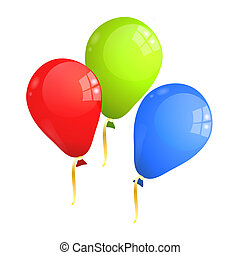 Multicolor Baloons RGB - Red, green and blue (RGB) balloons...