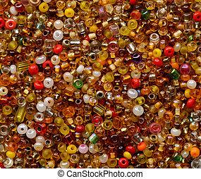 Multicolor beads assortment