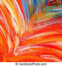 Multicolor Brush Strokes