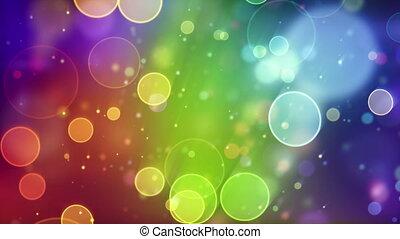 multicolor circle bokeh lights