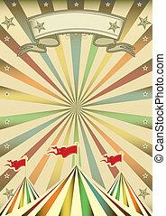 Multicolor circus show